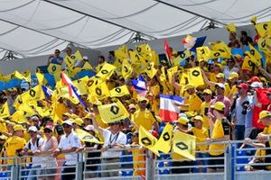Huge crowd support for Renault