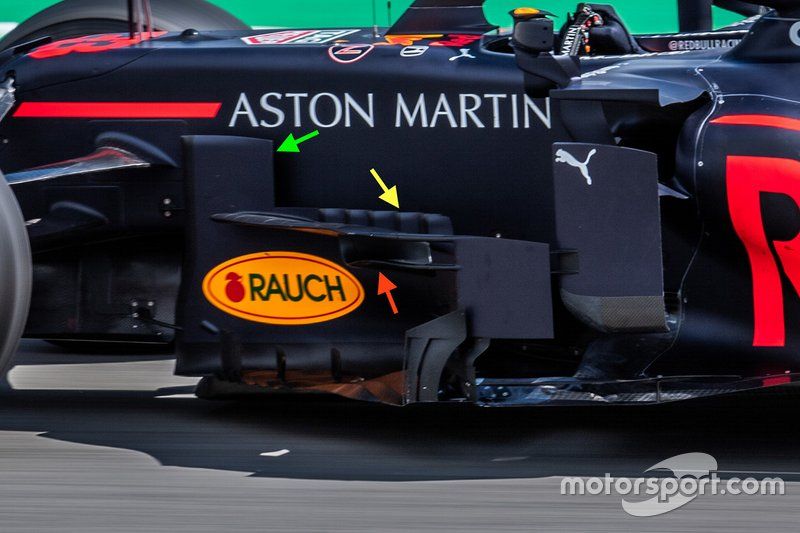 Red Bull RB15 bargeboard details