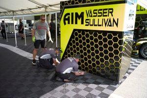 #14 AIM Vasser Sullivan Lexus RC F GT3, GTD: Richard Heistand, Jack Hawksworth, Philipp Frommenwiler, crew, setup