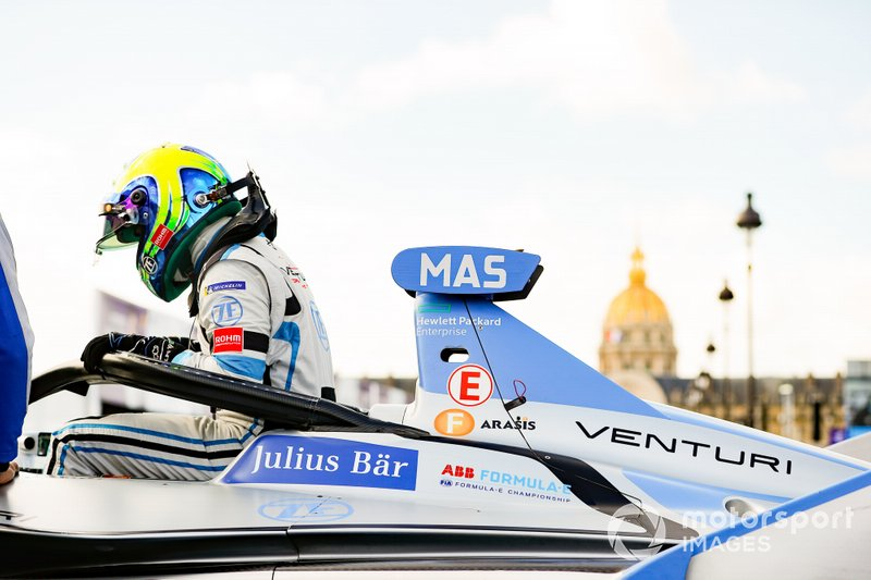 Felipe Massa, Venturi Formula E, gets out of his Venturi VFE05