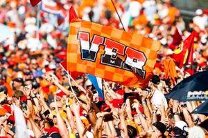 La foule pour soutenir Max Verstappen, Red Bull Racing