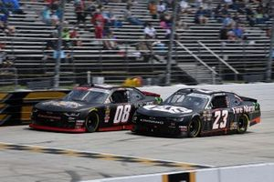 Gray Gaulding, SS Green Light Racing, Chevrolet Camaro and John Hunter Nemechek, GMS Racing, Chevrolet Camaro Fire Alarm Services, INC