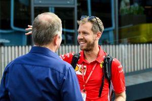 Sebastian Vettel, Ferrari and Martin Brundle, Sky TV