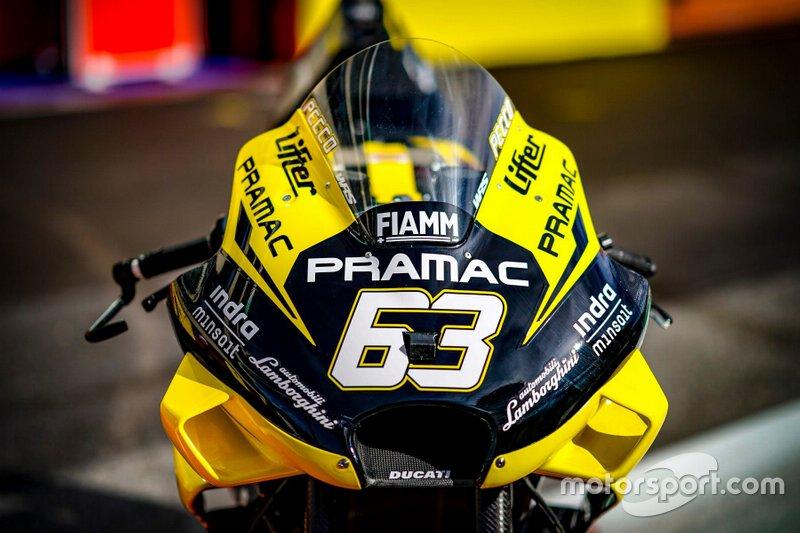 Nueva decoración Pramac Racing Lamborghini Francesco Bagnaia