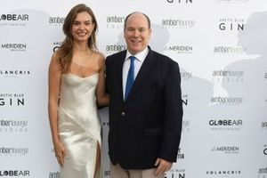 Model Josephine Skriver with Prince Albert II of Monaco