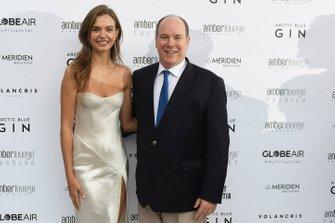 Model Josephine Skriver with Prince Albert II of Monaco