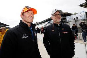 Scott Dixon, Chip Ganassi Racing Honda avec le président de HPD, Ted Klaus