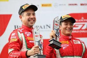 Podium: #75 T2 Motorsports Ferrari 488 GT3: David Tjiptobiantoro, Rio Haryanto