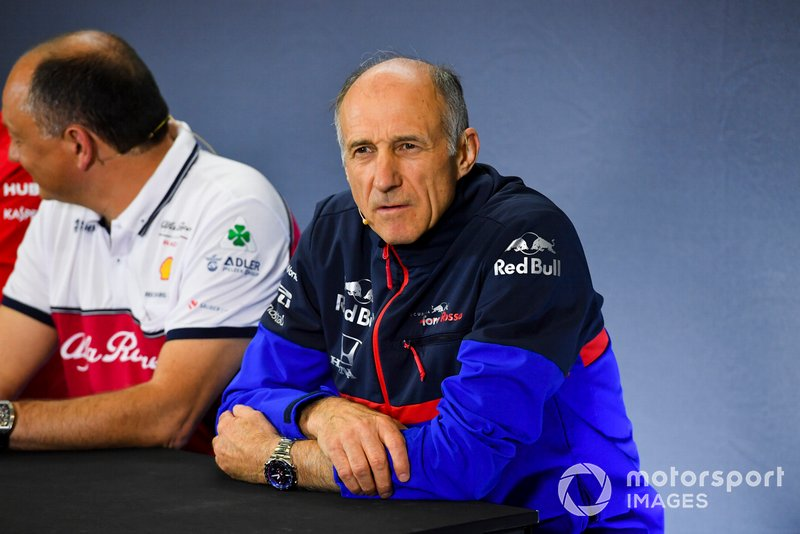 Franz Tost, Team Principal, Toro Rosso, in the team principals Press Conference