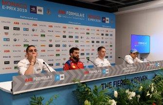 Sébastien Buemi, Nissan e.Dams, Jérôme d'Ambrosio, Mahindra Racing, Stoffel Vandoorne, HWA Racelab, Felipe Massa, Venturi Formula E, in the press conference