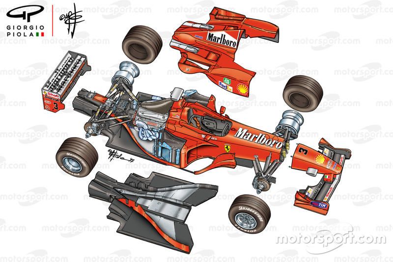 Ferrari F399 exploded view