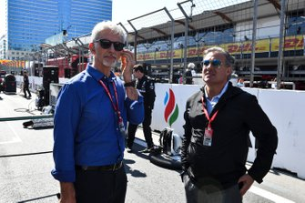 Damon Hill, Sky TV et Jean Alesi