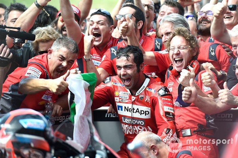 El ganador, Danilo Petrucci, Ducati Team