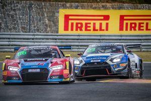 #86 OD Racing Audi R8 LMS GT3: Aditya Patel, Mitch Gilbert and #23 KCMG Nissan GT-R GT3: Edoardo Liberati and Florian Straus