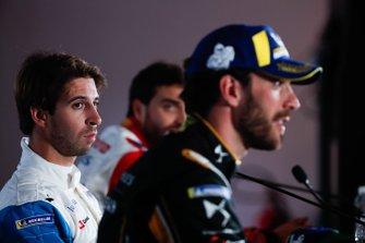Antonio Felix da Costa, BMW I Andretti Motorsports watches Jean-Eric Vergne, DS TECHEETAH in the press conference