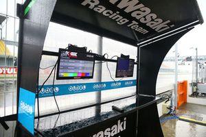 Kawasaki Racing pit duvarı