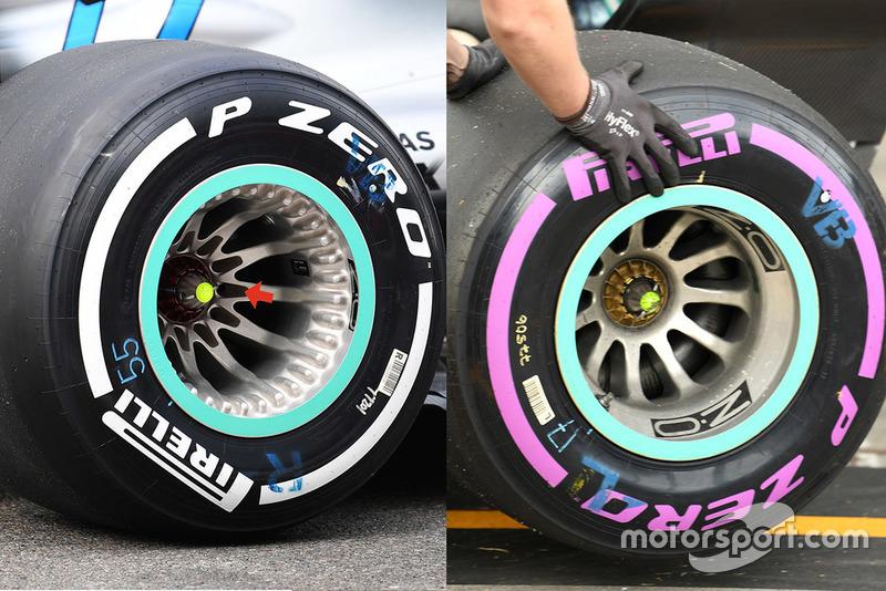 Mercedes wheel detail