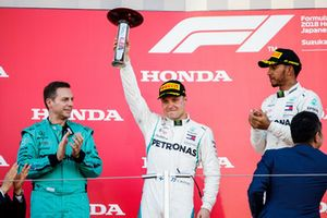 Second place Valtteri Bottas, Mercedes AMG F1, on the podium