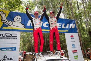 Winners Jari-Matti Latvala, Miikka Anttila, Toyota Yaris WRC, Toyota Gazoo Racing