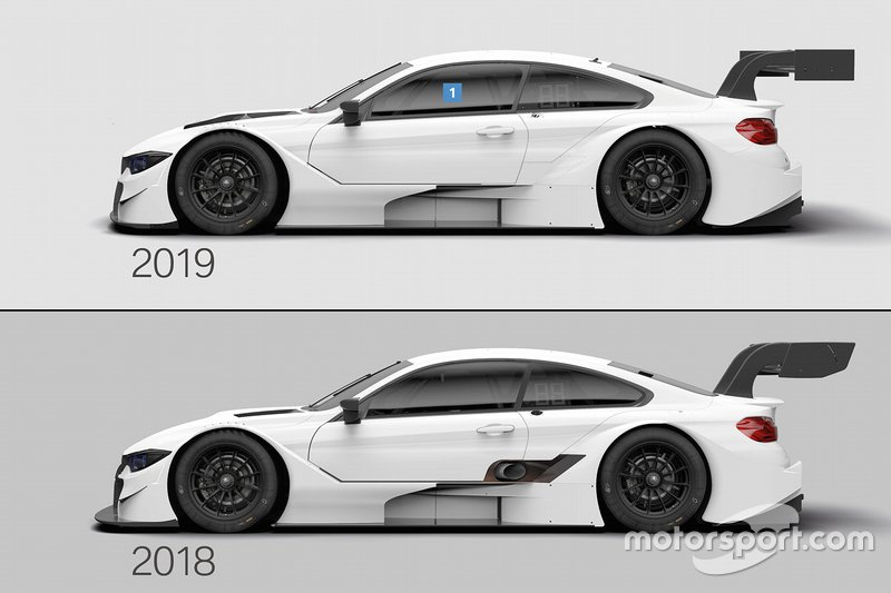 Bmw M4 Dtm Comparison 2018 2019 At Bmw M4 Dtm Comparison