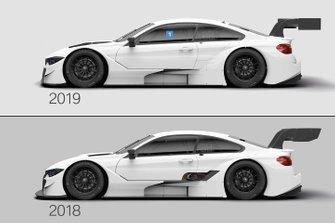 BMW M4 DTM Comparison 2018/2019