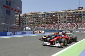 Fernando Alonso, Ferrari F2012, Mark Webber, Red Bull RB8 Renault