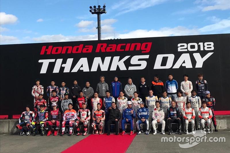 Foto de grupo Honda Thanks Day 2018