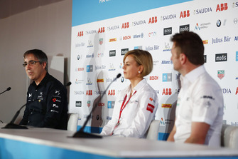 Mark Preston, Team Principal, DS TECHEETAH, Susie Wolff, Team Principal, Venturi Formula E, Allan McNish, Team Principal, Audi Sport Abt Schaeffler, in the press conference
