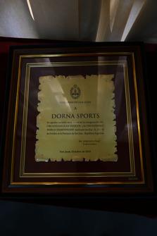 Dorna plaque handed to Daniel Carrera