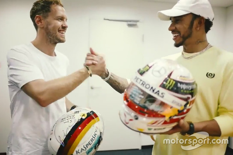 Sebastian Vettel, Ferrari és Lewis Hamilton, Mercedes F1 AMG