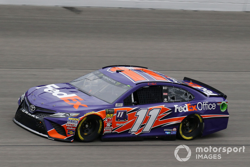 9. Denny Hamlin, Joe Gibbs Racing, Toyota Camry FedEx Office