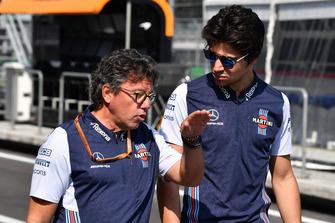 Lance Stroll, Williams Racing et Luca Baldisserri, ingénieur de course