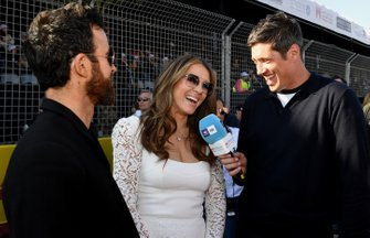 Vernon Kay interviews actors Elizabeth Hurley, Justin Theroux