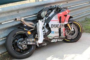 Bike von Jorge Lorenzo, Ducati Team, nach Sturz