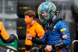 Ландо Норрис, McLaren, на стартовом поле
