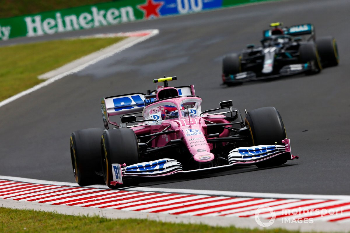 Lance Stroll, Racing Point RP20, Valtteri Bottas, Mercedes F1 W11