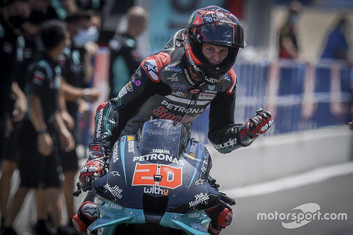 El ganador Fabio Quartararo, Petronas Yamaha SRT