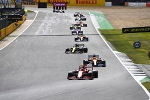 Charles Leclerc, Ferrari SF1000 Carlos Sainz Jr., McLaren MCL35 and Daniel Ricciardo, Renault F1 Team R.S.20
