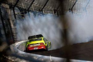 Crash: Ryan Blaney, Team Penske, Ford Mustang Menards/Atlas