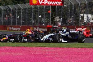 David Coulthard, Red Bull Racing RB3 y Alex Wurz, Williams FW29
