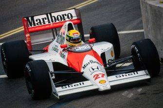 Ayrton Senna, McLaren MP4-5B Honda, al GP di Germania del 1990