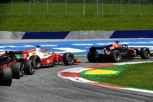 Nobuharu Matsushita, MP Motorsport, leads Mick Schumacher, Prema Racing