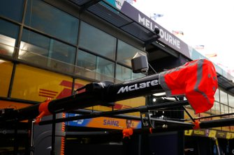 The McLaren gantry over the pitbox