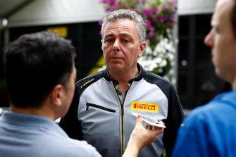Mario Isola, Racing Manager, Pirelli Motorsport, parle à la presse