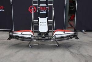 Detalle del morro del Haas F1 Team VF-20
