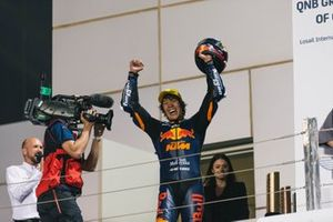 Podium: Race winner Tetsuta Nagashima, Red Bull KTM Ajo