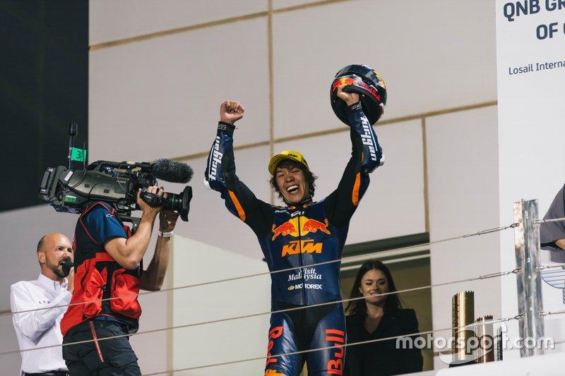 Podio: Il vincitore della gara Tetsuta Nagashima, Red Bull KTM Ajo