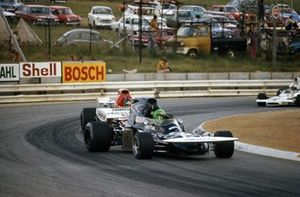 Henri Pescarolo, March 721 Ford leads Ronnie Peterson, March 721 Ford