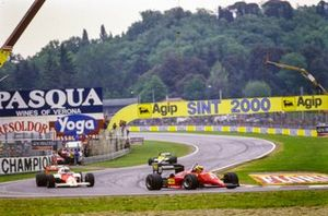 Michele Alboreto, Ferrari 156/85, Alain Prost, McLaren MP4-2B TAG