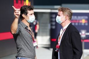 Mark Webber, Presenter and David Coulthard, Presenter